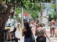 João Pessoa (PB), 20/03/2021 - Quarentena-Pernambuco - Movimentação na praia de João Pessoa na Paraíba neste sábado (20). Devido a quarentena <br /> final de semana de guarentena apenas serviços essências estão funcionando, as praias estão fechadas e uso de mascaras obrigatório. Paraíba tem 244.264 casos confirmados e 5.167 mortes por coronavírus. São 1.269 casos e 44 mortes confirmadas no boletim desta sexta-feira (19).