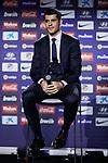 Alvaro Morata during the official presentation of Alvaro Morata as new player of Atletico de Madrid at Wanda Metropolitano Stadium in Madrid, Spain. January 29, 2019. (ALTERPHOTOS/A. Perez Meca) (ALTERPHOTOS/A. Perez Meca)
