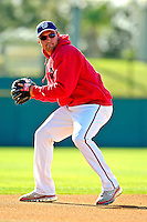 18 March 2007: Washington Nationals third baseman Ryan Zimmerman takes field drills prior to facing the Florida Marlins at Space Coast Stadium in Viera, Florida...Mandatory Photo Credit: Ed Wolfstein Photo