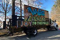 ATLANTA, GA - JANUARY 5: Joy to Polls Visits Various Atlanta Polling Centers during the Georgia Senate runoff races on January 5, 2021 in Atlanta, Georgia. <br /> CAP/MP34<br /> ©MPI34/Capital Pictures