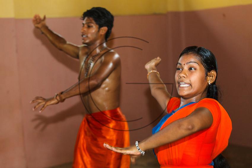 Asia, India,Kerala, Cheruthuruthy, Kalamandalam dance school founded by the poet Padmabhooshan Vallathol Narayana Menon, Thullal dance