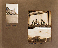 BNPS.co.uk (01202 558833)<br /> Pic: ForumAuctions/BNPS<br /> <br /> L-r Blandford 'Shottsford' in the Hardy novels, and the stage production by Drinkwater in Barnes.<br /> <br /> Extraordinary photo album reveals Thomas Hardy as personal tour guide around his most famous novel.<br /> <br /> A personalised photograph album documenting a guided tour of 'Casterbridge' that novelist Thomas Hardy gave a literary friend has emerged almost 100 years later.<br /> <br /> The famous author showed playwright John Drinkwater the real-life locations that inspired him to write the classic 1886 novel The Mayor of Casterbridge.<br /> <br /> Mr Drinkwater took photographs of various venues that feature prominently in the novel.<br /> <br /> He also captured some of the last images of Hardy who died two years later.