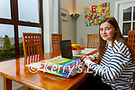 Isabel O'Connor a student at Colaiste na Sceilge, Cahersiveen studying from home for her Leaving Cert 2021.