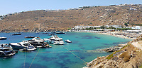 2019 08 01 Nammos village at Psarou beach on the island of Mykonos, Greece.