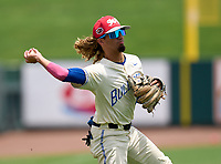 Braddock Bulldogs Kader Rabagh (2) during practice before the 42nd Annual FACA All-Star Baseball Classic on June 5, 2021 at Joker Marchant Stadium in Lakeland, Florida.  (Mike Janes/Four Seam Images)