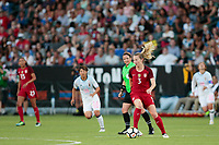 Carson, CA - Thursday August 03, 2017: Samantha Mewis during a 2017 Tournament of Nations match between the women's national teams of the United States (USA) and Japan (JPN) at the StubHub Center.