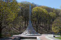 The Rising, Westchester County's September 11 memorial, commemorates the county residents who died in the events of September 11, 2001.  The memorial is located in Kensico Dam Plaza County Park in Valhalla, New York