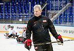 Sochi, RUSSIA - Mar 2 2014 -  Assistant Coach Curtis Hunt during practice before the 2014 Paralympics in Sochi, Russia.  (Photo: Matthew Murnaghan/Canadian Paralympic Committee)