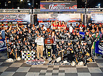 Matt Kenseth, driver of the (17) Crown Royal Black Ford, and his team celebrate after winning the Samsung Mobile 500 Sprint Cup race at Texas Motor Speedway in Fort Worth,Texas.