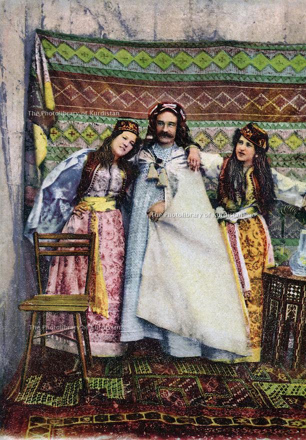 Turkey 1895.On a postcard: Typical Kurds.Turquie 1895.Types kurdes representes sur une carte postale