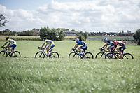 Last year's winner Timothy Dupont (BEL/Veranda's WIllems-Crelan) in the peloton<br /> <br /> 102nd Kampioenschap van Vlaanderen 2017 (UCI 1.1)<br /> Koolskamp - Koolskamp (192km)