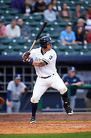 NW Arkansas Naturals outfielder Mike Bianucci (33) at bat during a game against the San Antonio Missions on May 30, 2015 at Arvest Ballpark in Springdale, Arkansas.  San Antonio defeated NW Arkansas 5-1.  (Mike Janes/Four Seam Images)