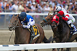 Joel Rosario aboard Teeth of the Dog wins the  The Easy Goer Stakes at Belmont Park on Preakness Day in Elmont, NY on 06/09/12. (Ryan Lasek/ Eclipse Sportswire)