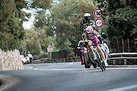 Alessandro Tonelli (ITA/Bardiani-CSF-Faizanè) broke free of the breakaway up the Capo Berta<br /> <br /> 112th Milano-Sanremo 2021 (1.UWT)<br /> 1 day race from Milan to Sanremo (299km)<br /> <br /> ©kramon