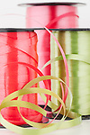 USA, Illinois, Metamora,  Close up of  spools of ribbon