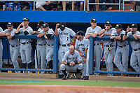 The Wake Forest Demon Deacons bench watches the action from the dugout during the game against the Florida Gators in Game One of the Gainesville Super Regional of the 2017 College World Series at Alfred McKethan Stadium at Perry Field on June 10, 2017 in Gainesville, Florida.  (Brian Westerholt/Four Seam Images)