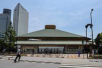 20th July 2021, TOKYO, JAPAN:  Photo taken on July 20, 2021 shows the Kokugikan Arena for boxing events ahead of the Tokyo 2020 Olympic Games,  in Tokyo, Japan