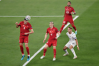 Merih Demiral  and Caglar Soyuncu of Turkey and Ciro Immobile of Italy during the Uefa Euro 2020 Group stage - Group A football match between Turkey and Italy at stadio Olimpico in Rome (Italy), June 11th, 2021. Photo Andrea Staccioli / Insidefoto