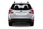 Straight rear view of a 2020 Subaru Forester Premium 5 Door Wagon stock images