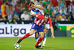 CD Leganes' Gabriel Appelt Pires (r) and Atletico de Madrid's Diego Godin during La Liga match. September 30,2017. (ALTERPHOTOS/Acero)