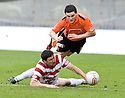 05/02/2011   Copyright  Pic : James Stewart.sct_jsp020_hamitlon_v_dundee_utd  .::  MARTIN CANNING GOES IN LATE ON CRAIG CONWAY ::.James Stewart Photography 19 Carronlea Drive, Falkirk. FK2 8DN      Vat Reg No. 607 6932 25.Telephone      : +44 (0)1324 570291 .Mobile              : +44 (0)7721 416997.E-mail  :  jim@jspa.co.uk.If you require further information then contact Jim Stewart on any of the numbers above.........