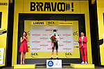 Marc Hirschi (SUI) Team Sunweb wins the day's combativity award at the end of Stage 9 of Tour de France 2020, running 153km from Pau to Laruns, France. 6th September 2020. <br /> Picture: ASO/Alex Broadway   Cyclefile<br /> All photos usage must carry mandatory copyright credit (© Cyclefile   ASO/Alex Broadway)