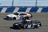 #18: Kyle Busch, Joe Gibbs Racing, Toyota Supra iK9 #00: Cole Custer, Stewart-Haas Racing, Ford Mustang Thompson Pipe/Haas CNC