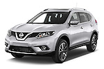2014 Nissan X-TRAIL Tenka 5 Door SUV 2WD Angular Front stock photos of front three quarter view