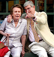 EILEEN FORD AND HUSBAND 08/26/2004<br /> IN SOHO NEW YORK CITY<br /> Photo By John Barrett/PHOTOlink /MediaPunch