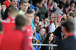 Wales v Serbia FIFA 2014 World Cup Qualifying match - Cardiff - 100913 <br /> Fans taking photos of Gareth Bale as he walks onto the bench for Wales in the game against Serbia at the Cardiff City stadium tonight.