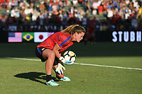 Carson, CA - Thursday August 03, 2017: Alyssa Naeher prior to a 2017 Tournament of Nations match between the women's national teams of the United States (USA) and Japan (JPN) at the StubHub Center.