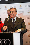Real Madrid President Florentino Perez participates and receives new Audi during the presentation of Real Madrid's new cars made by Audi at the Jarama racetrack on November 8, 2012 in Madrid, Spain.(ALTERPHOTOS/Harry S. Stamper)