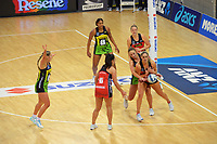 Action from the ANZ Premiership netball match between Central Pulse and Mainland Tactix at Te Rauparaha Arena in Wellington, New Zealand on Friday, 9 July 2021. Photo: Dave Lintott / lintottphoto.co.nz