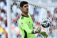 Thibaut Courtois of Belgium in action during the Uefa Nations League 3rd and 4th place final football match between Italy and Belgium at Juventus stadium in Torino (Italy), October 10th, 2021. Photo Image Sport / Insidefoto
