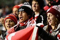 Chester, PA - Friday December 08, 2017: Indiana University fans during an NCAA Men's College Cup semifinal soccer match between the North Carolina Tar Heels and the Indiana Hoosiers at Talen Energy Stadium.