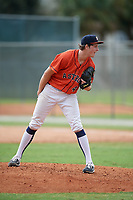 Lucas Rich (46) during the WWBA World Championship at the Roger Dean Complex on October 12, 2019 in Jupiter, Florida.  Lucas Rich attends Newark Academy in Florham Park, NJ and is committed to Lehigh.  (Mike Janes/Four Seam Images)