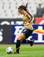 Ali Krieger. The U.S. defeated Finland, 4-1 during the Four Nations Tournament in  Guangzhou, China on January 18, 2008.