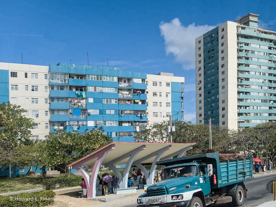 Apartment bloc in Cienfuegos suburb