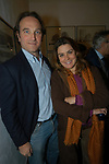 """ANDREA DI ROBILANT E ALESSANDRA MATTIROLO<br /> VERNISSAGE """" A RIVEDERCI ROMA"""" DI PRISCILLA RATTAZZI<br /> GALLERIA MONCADA ROMA 2004"""
