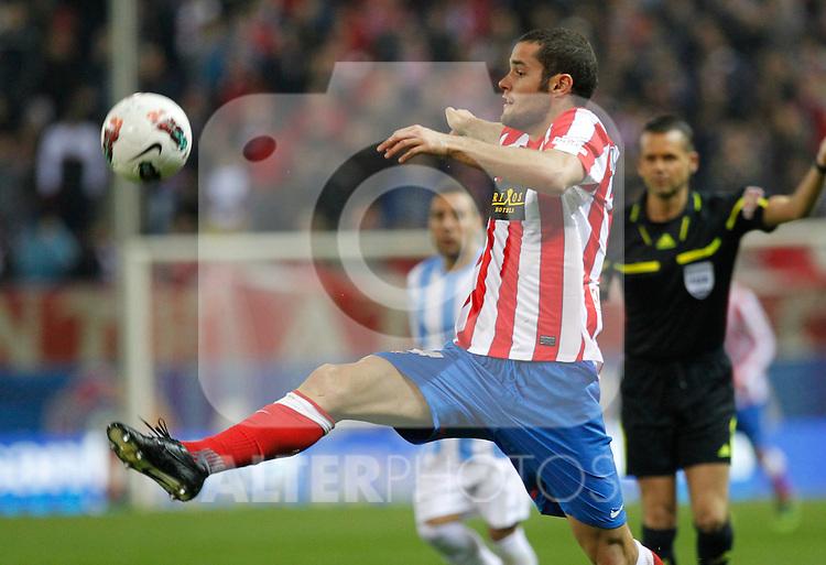 Madrid (05/05/2012).- Estadio Vicente Calderon..Liga BBVA.Atletico de madrid - Malaga Club de Futbol..M. Suarez...Photo: Alex Cid-Fuentes / ALFAQUI..