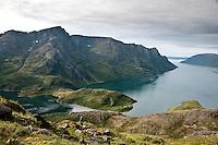 Jøfjorden med Straumen på Seiland. ---- Fjord on the island Seiland.