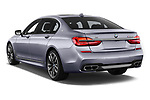 Car pictures of rear three quarter view of a 2018 BMW 7 Series M760 Li 4 Door Sedan angular rear