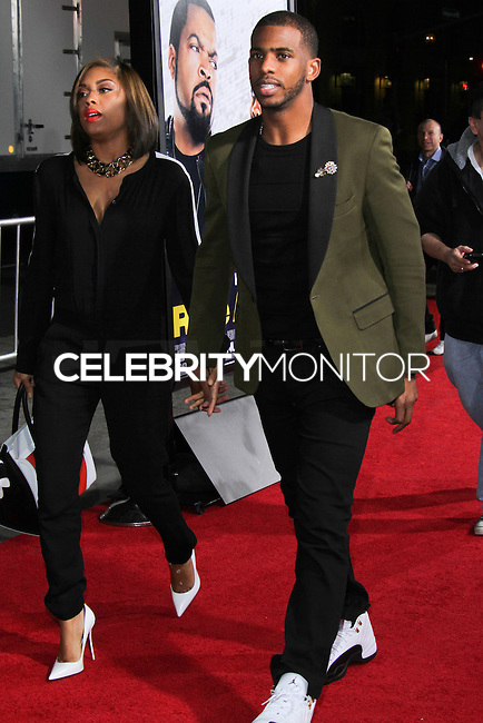 """HOLLYWOOD, CA - JANUARY 13: Chris Paul at the Los Angeles Premiere Of Universal Pictures' """"Ride Along"""" held at the TCL Chinese Theatre on January 13, 2014 in Hollywood, California. (Photo by David Acosta/Celebrity Monitor)"""
