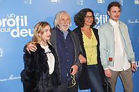 LUCILLE (SA PETITE-FILLE), PIERRE RICHARD, CEYLA LACERDA (SA FEMME), ARTHUR (SON PETIT-FILS), AVANT PREMIERE DU FILM 'UN PROFIL POUR DEUX' A L'UGC NORMANDIE, PARIS, FRANCE, LE 27/03/2017.