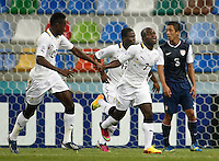 Ghana's Frank Acheampong (F) celebrate his goal with team mate during their FIFA U-20 World Cup Turkey 2013 Group Stage Group A soccer match Ghana betwen USA at the Kadir Has stadium in Kayseri on June 27, 2013. Photo by Aykut AKICI/isiphotos.com
