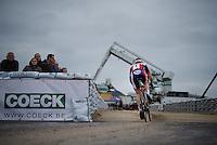 Laurens Sweeck (BEL/ERA-Murprotec) attacking the sand stroke<br /> <br /> Jaarmarktcross Niel 2015  Elite Men & U23 race