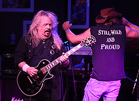 BOCA RATON - FEBRUARY 26: Bobby Ingram and Jimmy Elkins of Molly Hatchet perform at The Funky Biscuit on February 26, 2021 in Boca Raton, Florida. Credit: mpi04/MediaPunch