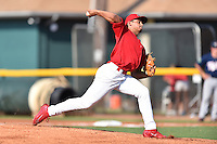 Johnson City Cardinals starting pitcher Jordan Hicks (12) delivers a pitch during a game against the Elizabethton Twins at Howard Johnson Field at Cardinal Park on June 26, 2016 in Johnson City, Tennessee. The Twins defeated the Cardinals 13-12. (Tony Farlow/Four Seam Images)
