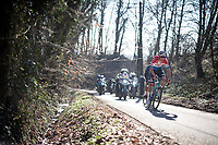 Mathieu Van der Poel (NED/Alpecin-Fenix) up the Trieu climb<br /> <br /> 73rd Kuurne - Brussels - Kuurne 2021<br /> ME (1.Pro)<br /> 1 day race from Kuurne to Kuurne (BEL/197km)<br /> <br /> ©kramon