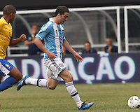 Argentina forward  Gonzalo Higuain (9) drives for the net. In an international friendly (Clash of Titans), Argentina defeated Brazil, 4-3, at MetLife Stadium on June 9, 2012.